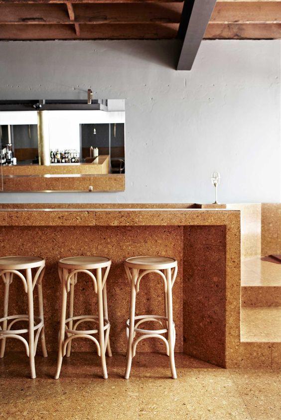 Cork Countertop 34 smart and comfy cork home décor ideas - digsdigs