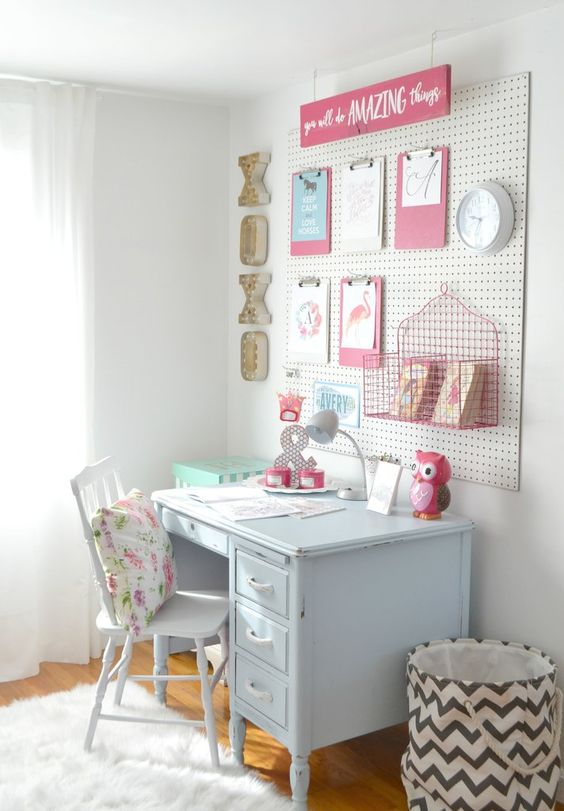 Study Table Designs For Small Rooms: 32 Smart And Practical Pegboard Ideas For Your Home