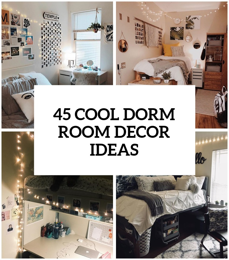 31 cool dorm room d cor ideas you ll like digsdigs - Cool room decorating ideas ...