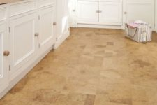 31 cork floors give this kitchen somewhat a warm rustic touch