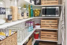 31 crates and baskets will make your pantry look more rustic
