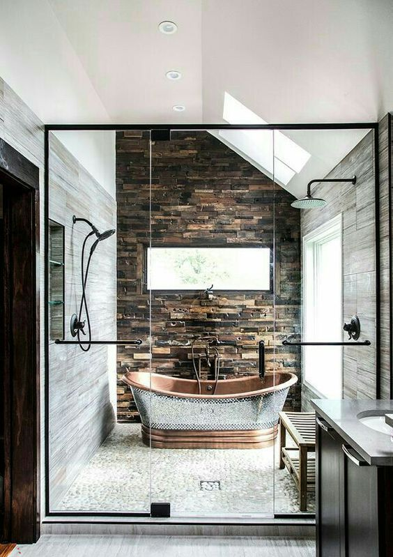 showstopper stone bathroom accent wall