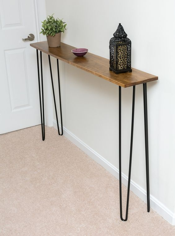 34 Stylish Console Tables For Your Entryway DigsDigs : 33 very narrow console table with hairpin legs for the smallest entryway from www.digsdigs.com size 564 x 762 jpeg 46kB