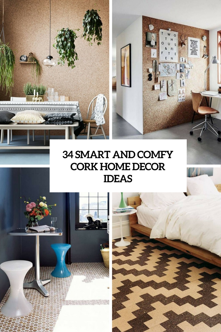 34 smart and comfy cork home décor ideas - digsdigs