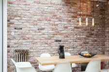 36 faux brick panels are an easy way to add a trendy feature to your decor
