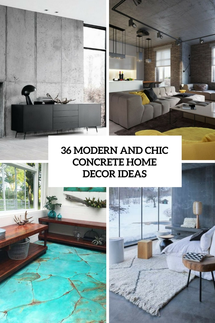 modern and chic concrete home decor ideas cover