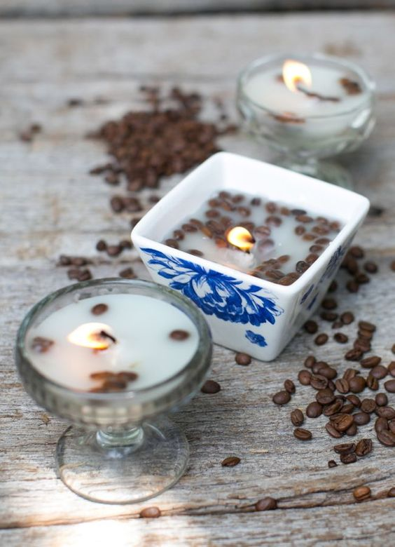 vanilla and coffee candles are perfect winter choice