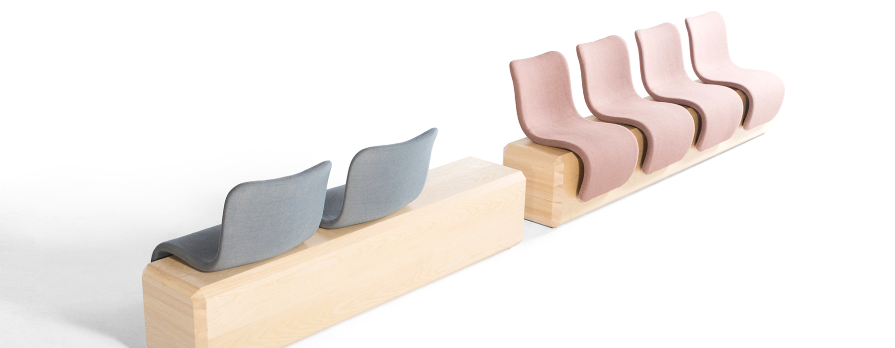 Ascent furniture collection was aimed at public spaces and is available in several colors