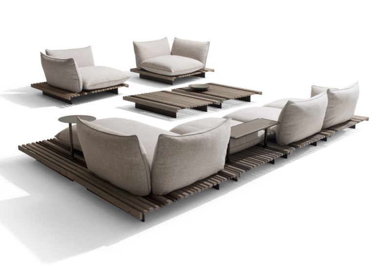 Aspara is a modular seating system that can adapt to various needs and requirements changing according to your wish