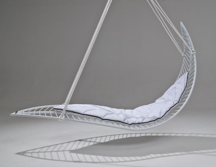The Leaf is a hanging swinging chair that will not only absorb all your negative emotions but will also give your space a unique look