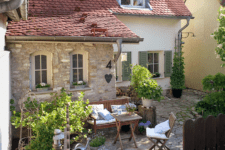 01 This 200 years old country house with stone facades was restored and renovated by the owners themselves