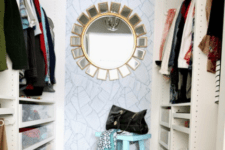 01 This small girlish closet was renovated by its owner into a modern and comfy space for everything she needs