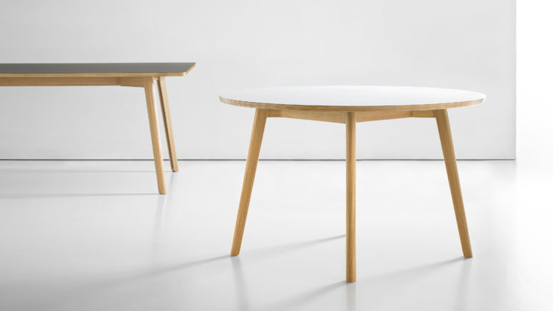 Each table has hidden cable storage inside its legs to make you space look ideal