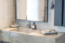 02 a concrete vanity on metal legs can be DIYed, and it will be very durable