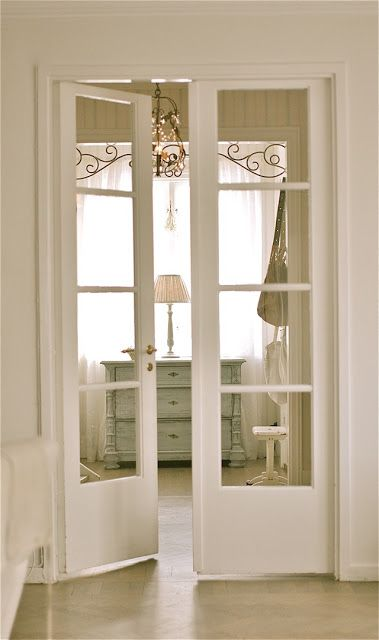 33 stylish interior glass doors ideas to rock digsdigs white french doors match a shabby chic interior and let ght light in planetlyrics Choice Image