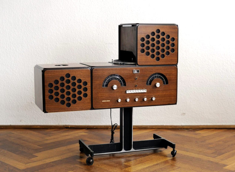 Such a console will be a focal point of any retro of mid-century modern interior