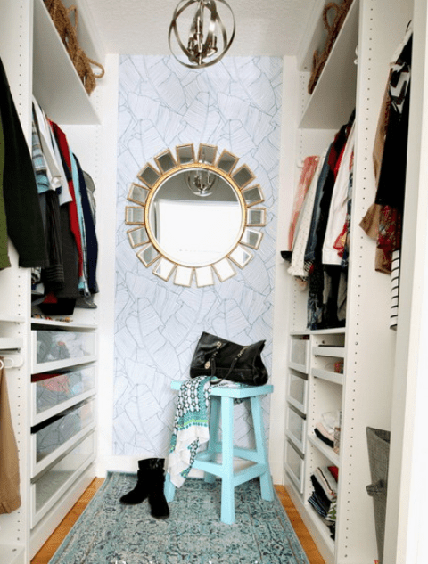 Small Girlish Closet Renovation With Ikea Pax System