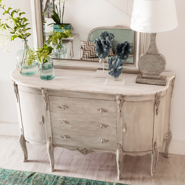 a shabby chic dresser looks very refined, and you can make one yourself