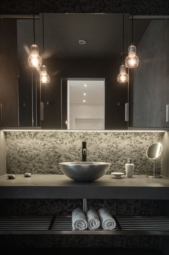 32 trendy and chic industrial bathroom vanity ideas