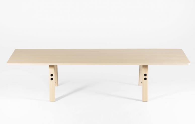 The Commune table is designed for offices and collective working environments