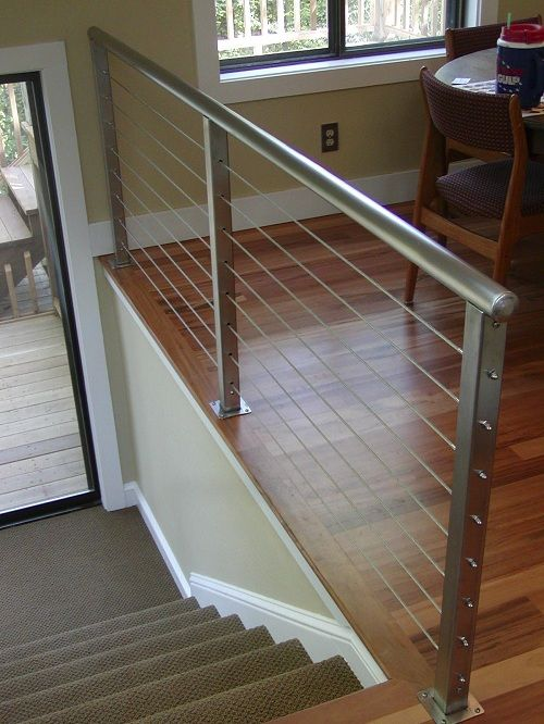 38 edgy cable railing ideas for indoors and outdoors for Wood floor joint guard