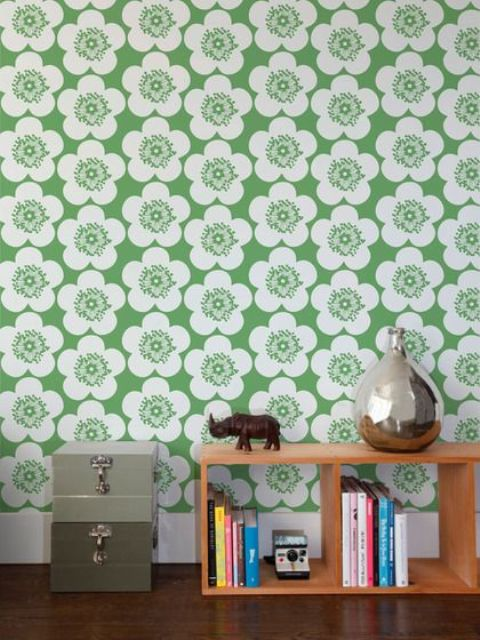 Decorating With Retro Wallpaper 32 Eye Catchy Ideas