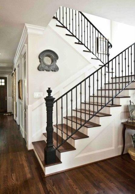 Wrought Iron Stair Railing Interiors