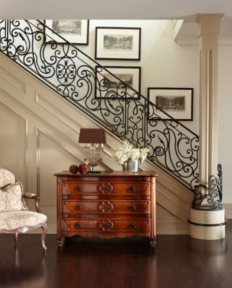beautiful wrought iron railing with whimsy patterns