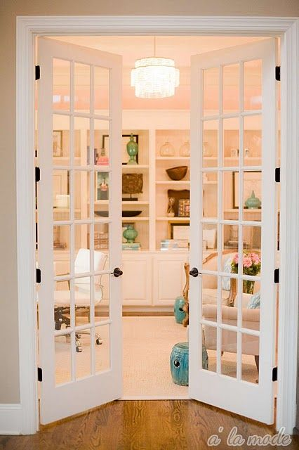 classic French doors in white look amazing in any traditional space