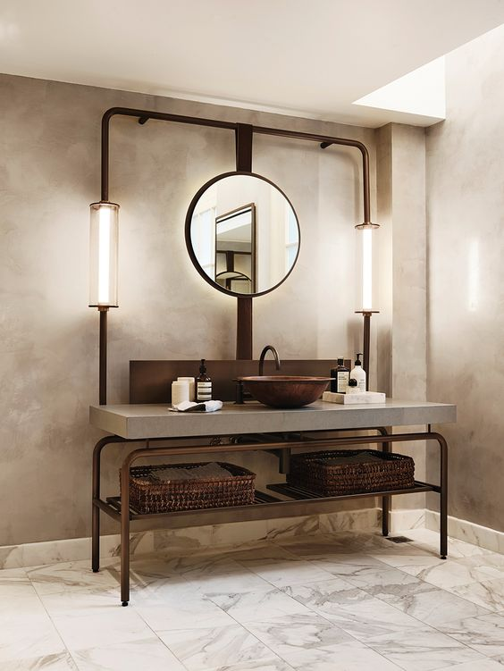 32 trendy and chic industrial bathroom vanity ideas digsdigs for Bathroom ideas 1920s home