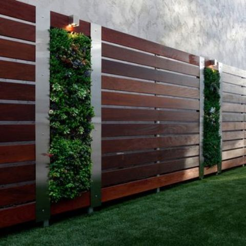 Design Fencing 34 privacy fence design ideas to get inspired digsdigs infuse your wooden fence with greenery parts achieving a living wall design workwithnaturefo