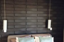 09 black decorative 3D wall panels to rock in your neutral bedroom