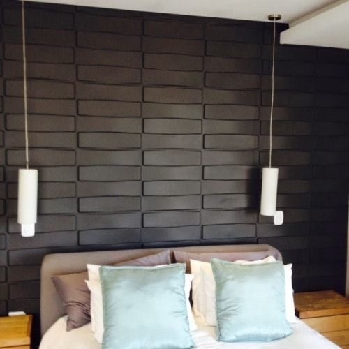 Black Wall Paneling : D wall panels and coverings to blow your mind ideas
