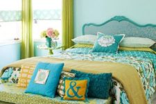09 lime greens and turquoise for a bold and cheerful bedroom with whimsy decor