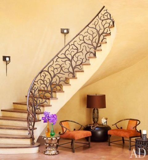 10 Eye Catching Staircase Designs For Unique Home Decor: 33 Wrought Iron Railing Ideas For Indoors And Outdoors