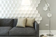 13 honeycomb 3D wall panels with some separate parts for a cooler look