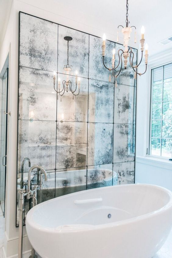 30 cool ideas to use big mirrors in your bathroom digsdigs. Black Bedroom Furniture Sets. Home Design Ideas