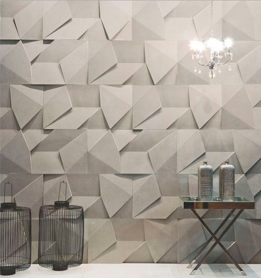 geometric wall panels with a chaotic pattern