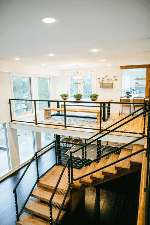 Wire Railing Interior | 38 Edgy Cable Railing Ideas For Indoors And Outdoors Digsdigs
