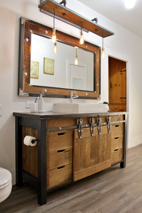 45 trendy and chic industrial bathroom vanity ideas digsdigs 13224
