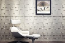 18 squared 3D wall tiles for a living room or an eye-catchy entryway