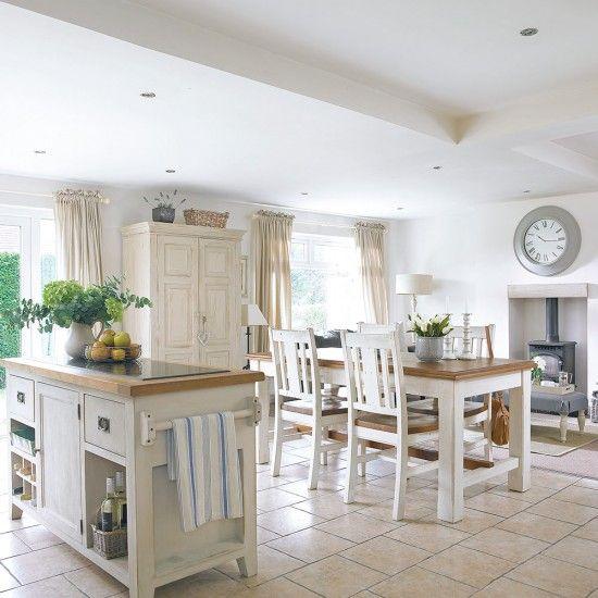 Open Plan White Kitchen: 30 Spacious And Airy Open Plan Kitchen Ideas