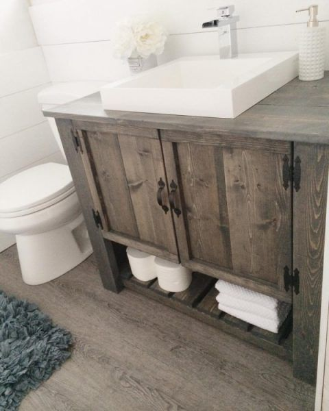 Rustic Bathroom Vanities And Cabinets For A Cozy Touch Digsdigs