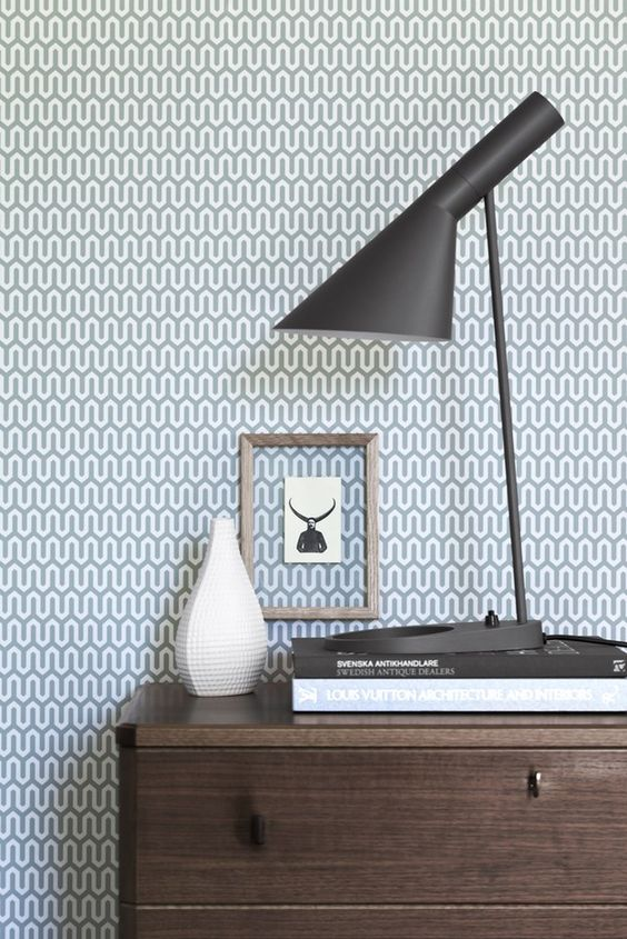 geometric grey retro wallpaper will be a perfect fit for many spaces