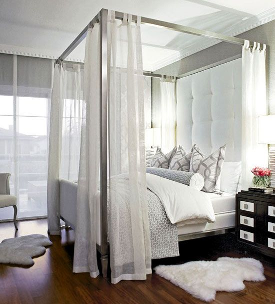 if you want some privacy, you can always hang some curtains to the canopy frame