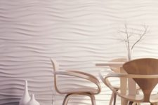 22 abstract 3D wall panels for a dining area
