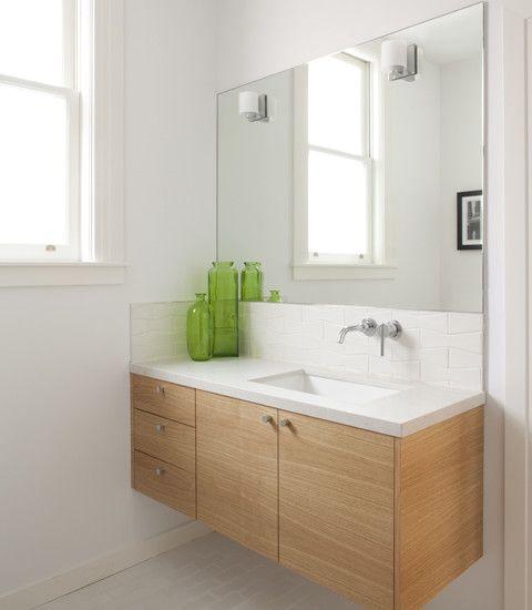 Bathroom Vanity Lights Design Ideas: 36 Floating Vanities For Stylish Modern Bathrooms
