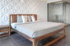 24 chrysalis wall panels for a cool sculptural headboard wall in your bedroom