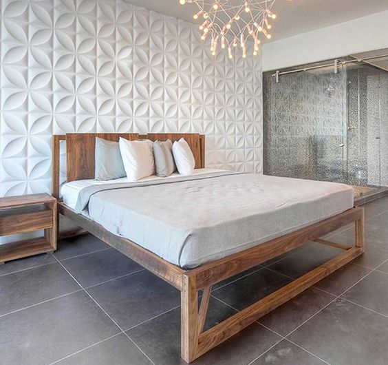 chrysalis wall panels for a cool sculptural headboard wall in your bedroom