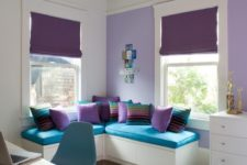 25 bold turquoise and purple boy's room decor with creamy shades